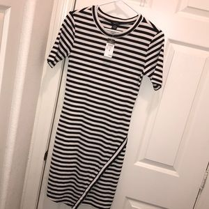 Rue 21 black and white striped dress.